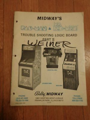 Original Midway Trouble Shooting Logic Board Part II for Pac-Man & Ms. Pac- Man