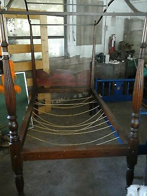 Antique Canopy Rope Bed 1800's
