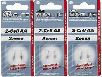 3 Pack of 2 AA Mini Maglite Bulbs by Mag LM2A001