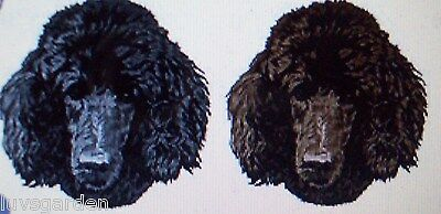 Brown Poodle Dog SET OF 2 HAND TOWELS EMBROIDERED Beautiful