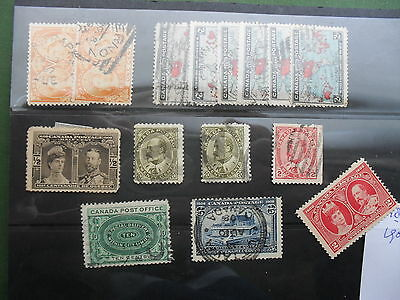 Canada 1887-1906 Used lot (with doublets) cat E185