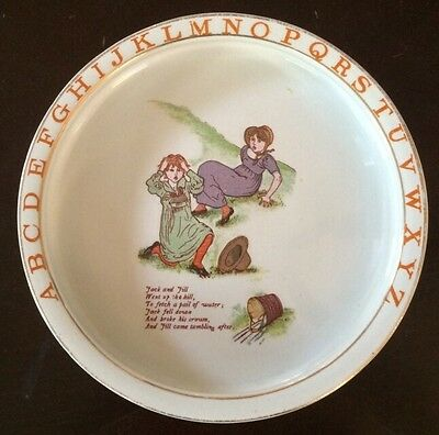 """Antique Ridgway Bowl - """"mother Goose"""" Rare Old Nursery Rhymes Collection"""