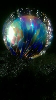 """Vintage Art Glass studio """"PartyLite"""" Paperweight dated 2000"""