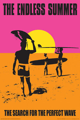 (LAMINATED) Endless Summer Movie POSTER (61x91cm) Surfing Adventure Picture