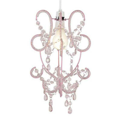 Vintage Style Pink Shabby Chic Ceiling Light Pendant Shade Chandelier Lampshade