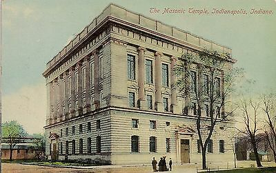The Masonic Temple Indianapolis IN Postcard