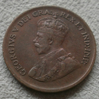 1929 Canada Canadian small cents one cent penny coin