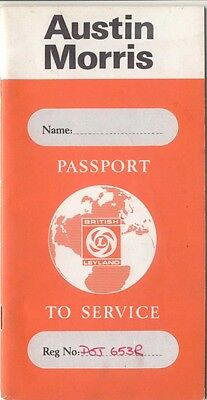 Austin Morris Passport to Service AKD 7744 6th Edition 1976