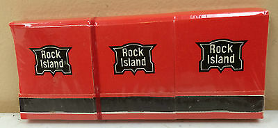 Sealed Vintage Rock Island Railroad Matches Pack of 6 Books Advertsiing