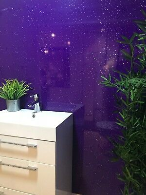 Purple Sparkle PVC Cladding Bathroom Shower Ceiling Panels Wet Wall