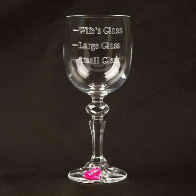Personalised Wife Wine Glass Anniversary Valentines Drinking Gift Heart Charm