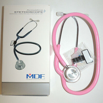 MDF 747XP Adult MDF1 COSMO PINK Acoustica Stethoscope  - BRAND NEW IN BOX!