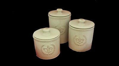 Gorgeous Fleur De Lis Canisters! Set Of 3. This Make A Great Gift.