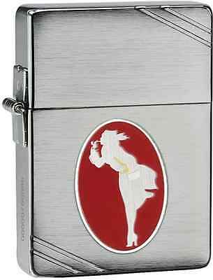 Zippo 2013 Limited Edition Windy Girl Brushed Chrome Lighter, #28729, New In Box
