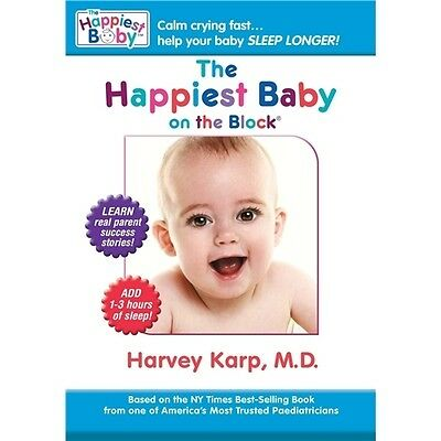 The Happiest Baby on the Block DVD 'Calming Reflex' Technique Stop Crying New
