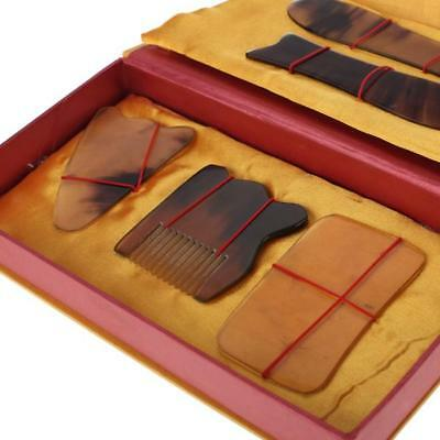 5pc Chinese Traditional Body Care Scraping Gua Sha Board Acupuncture Massage