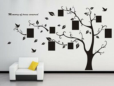 Wall Decal Sticker Removable Photo Frame Tree Family Quote Branch