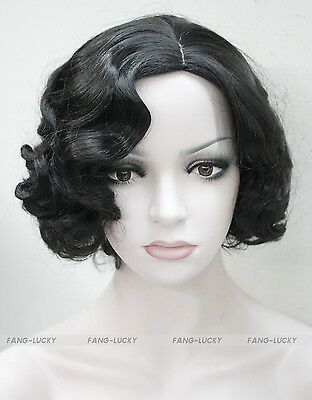 Excellent Black Short Curly Wave Women Women Ladies Daily wig FTLD075