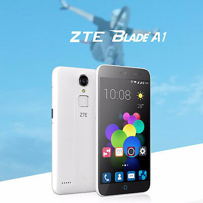 "ZTE Blade A1 4G LTE Cellulare 5.0"" Android Quad Core 16GB Dual Sim Smartphone"