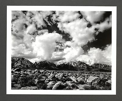Robert Werling Photo Kunstdruck Art Print 43x35cm Landscape Rocks Clouds B&W SW