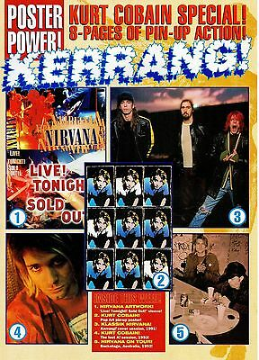 Kurt Cobain Nirvana magazine poster pull-out 8 pages issued in England in 1994