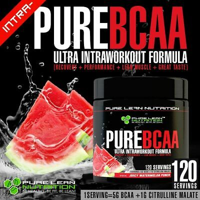 Pure Bcaa Intra Workout 120 Serves Watermelon Branch Chain Amino Acids Recovery