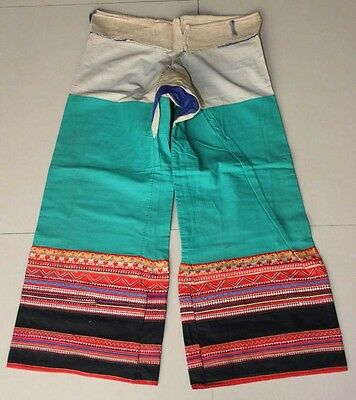 Tribal Exotic Chinese minority people's old hand local cloth trousers