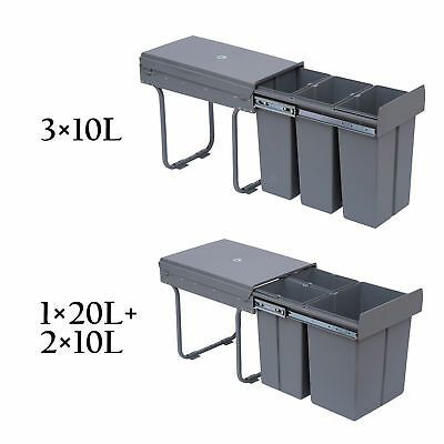 Recycle Waste Bin 30/40L Sorter Recycling Pull Out & Soft Close Kitchen Cabinet