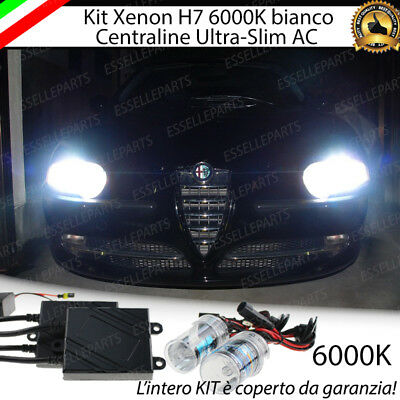 Kit Xenon Slim Xeno H7 Ac 6000K 35W Specifico Per Alfa 147 No Error Con Garanzia