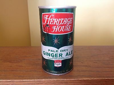 Vintage 1977 Heritage House Straight Steel Pale Dry Ginger Ale Soda Can PT