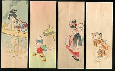 Japanese woodblock print vintage antique 5 Envelopes + Original Package -1935