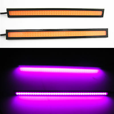2 Piece Purple Pink COB LED Car SUV Daytime Running Light Driving Fog Light 12V
