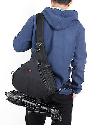 DSLR SLR Digital Sling Camera Case Shoulder Bag Backpack For Canon Nikon Sony