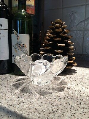 Mikasa Peppermint Frost Glass W Frosted Glass Decorative Bowl. Made In Germany.