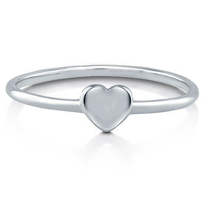 BERRICLE Sterling Silver Heart Promise Fashion Ring