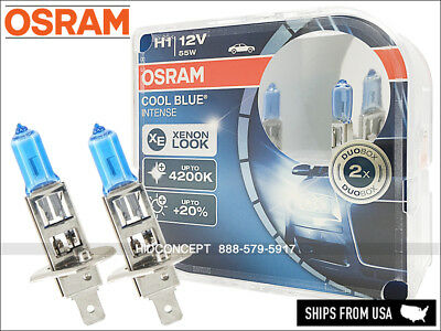 H1 Osram Cool Blue Intense Halogen Xenon Look Headlight Bulbs +20% 4200K