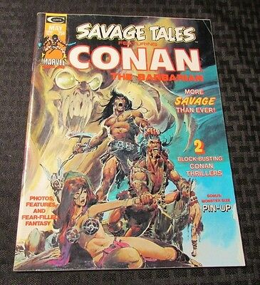 1974 SAVAGE TALES #4 Conan The Barbarian VF Neal Adams Cover