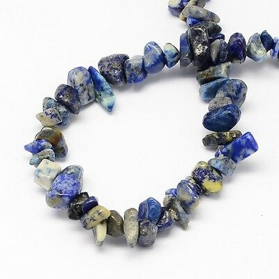 100 x Natural Lapis Lazuli Stone Beads, Chips - 6mm - LB1021