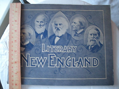 """Antique Booklet """"Literacy New England"""" Copyright 1905 LH Nelson Co"""