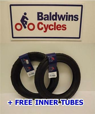 "12"" x 1.75 x 2-1/4"" Rubena Pram / Pushchair / Bike Tyres  + FREE INNER TUBE"