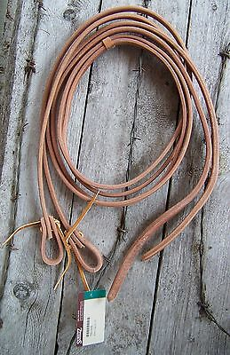 Reins - Harness Leather Water Loop (1/2 Inch) - 8 Foot Plus