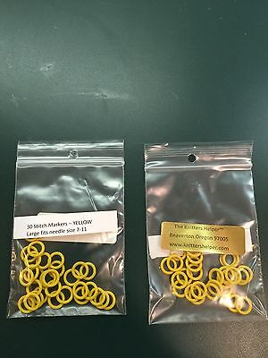 Large Stitch Markers 13mm OD 8mm ID for size 7-11 Needles - Silicone Rings