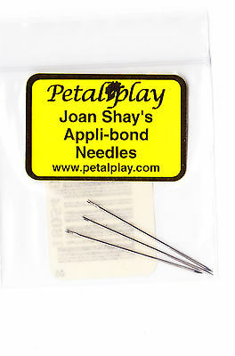 Appli-Bond applique needles by Petal Play - pack of 3