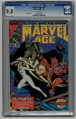 Marvel Age #25 Rocket Raccoon Cover CGC 9.8 White Guardians of the Galaxy 1/2