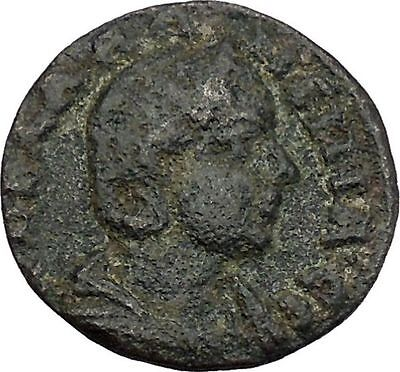 SALONINA wife of GALLIENUS Pergamum Pergamon Dionysus Panther Roman Coin i45578