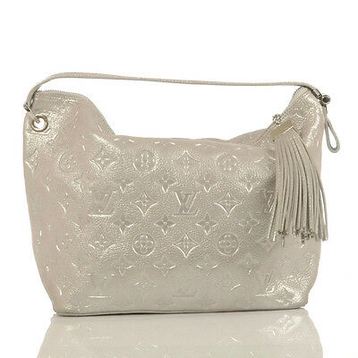 Authentic Louis Vuitton Limited Edition Silver Monogram Shimmer Halo Bag