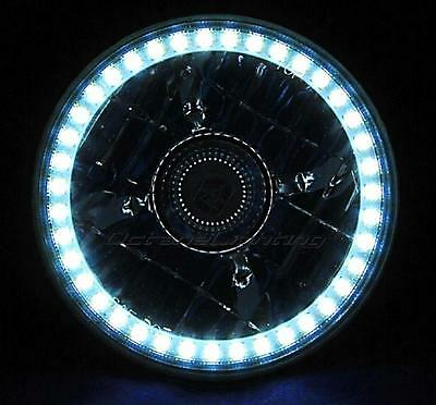 "5-3/4"" Projector White Halo H4 Light Bulb Motorcycle SMD LED Angel Eye Headlight"