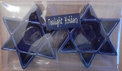 Hanukah Ceramic Tealight Candle Holders Set of 2