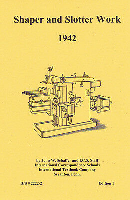 1937 - Shaper and Slotter Work - 1937  - Reprint