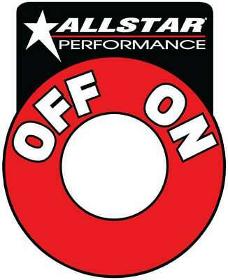 Allstar Performance ALL99045 Battery Disconnect Switch Decals Red/White/Black Ea